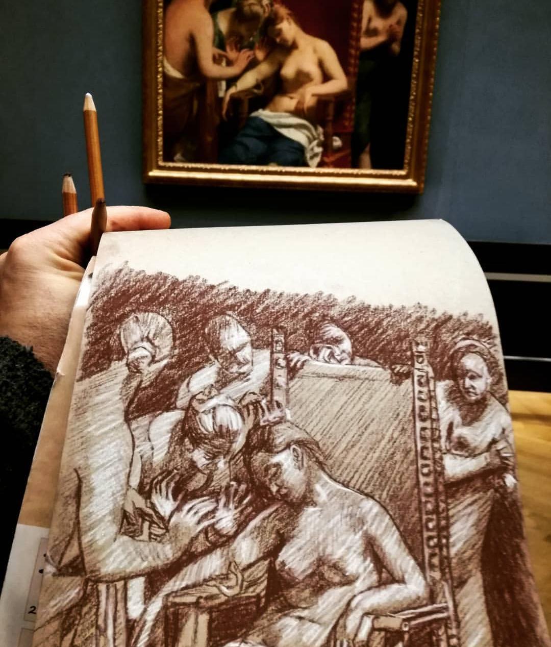 """""""Die sterbende Cleopatra"""" - Guido Cagnacci"""