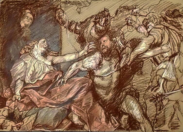 """""""Die Gefangennahme Simsons"""" - Anthonis van Dyck"""