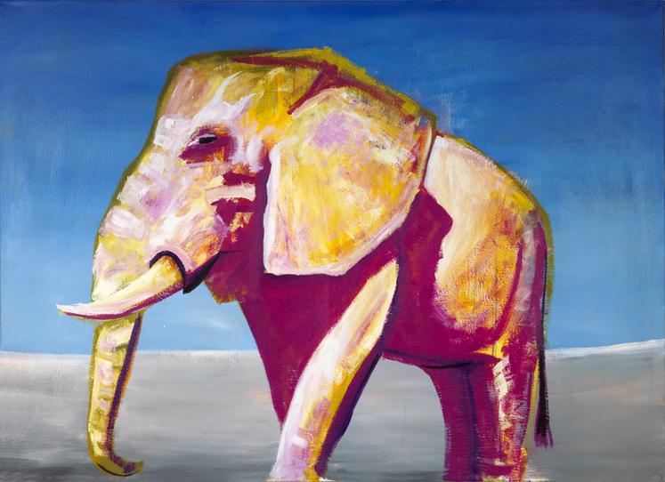 Grüner Elephant