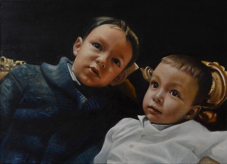 Portrait zweier Brüder