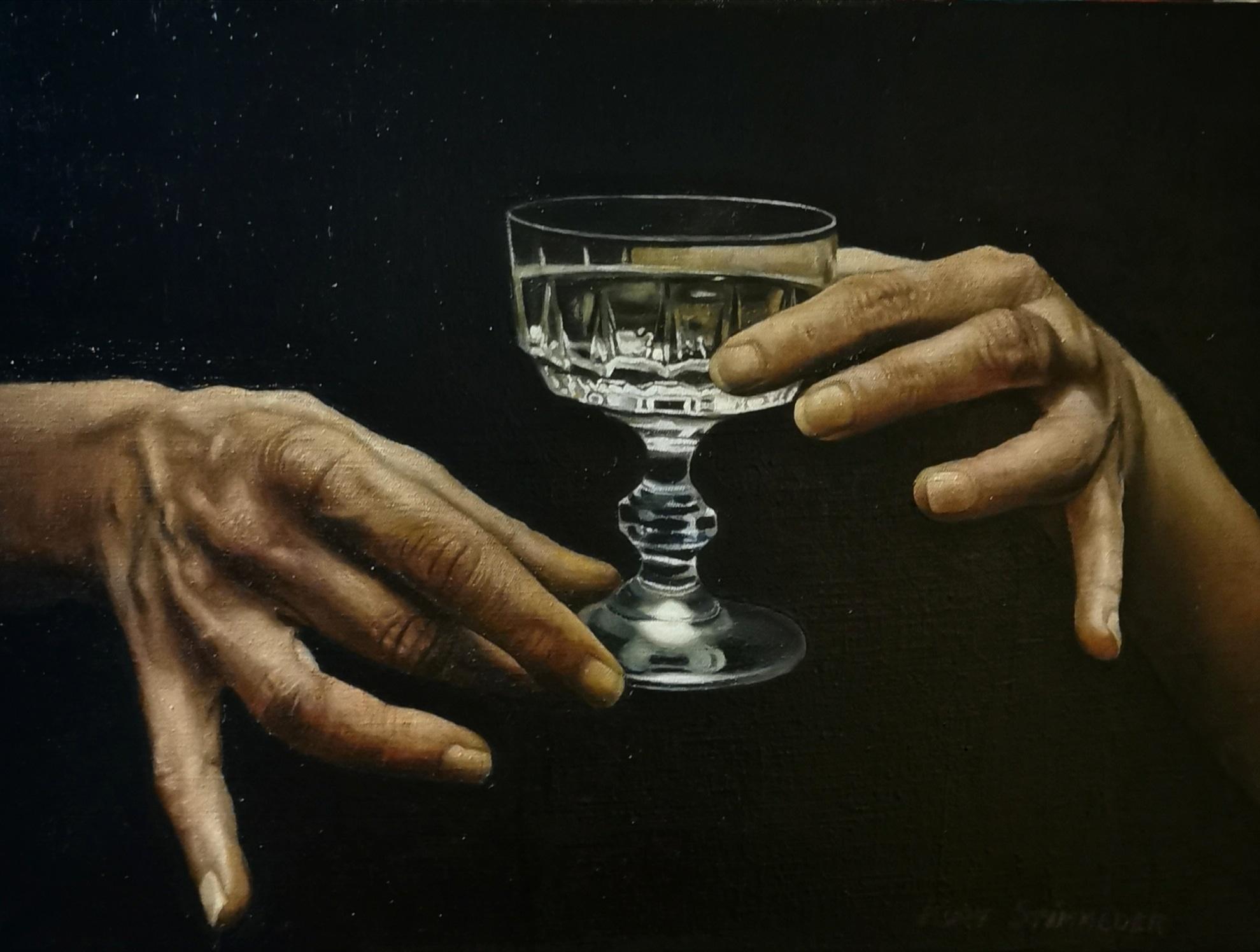 Trinkende Hände