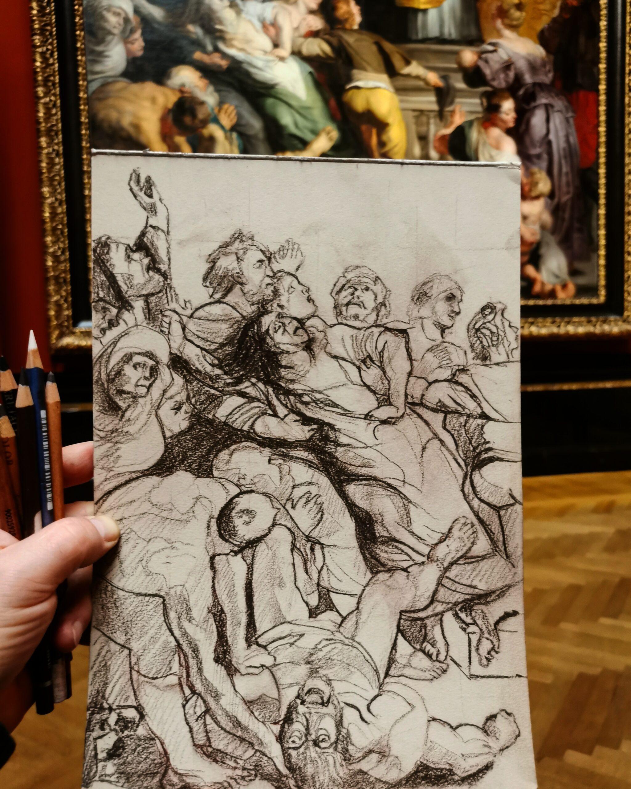 """Ausschnitt aus """"Wunder des hl. Ignatus von Loyola"""" - Peter Paul Rubens"""