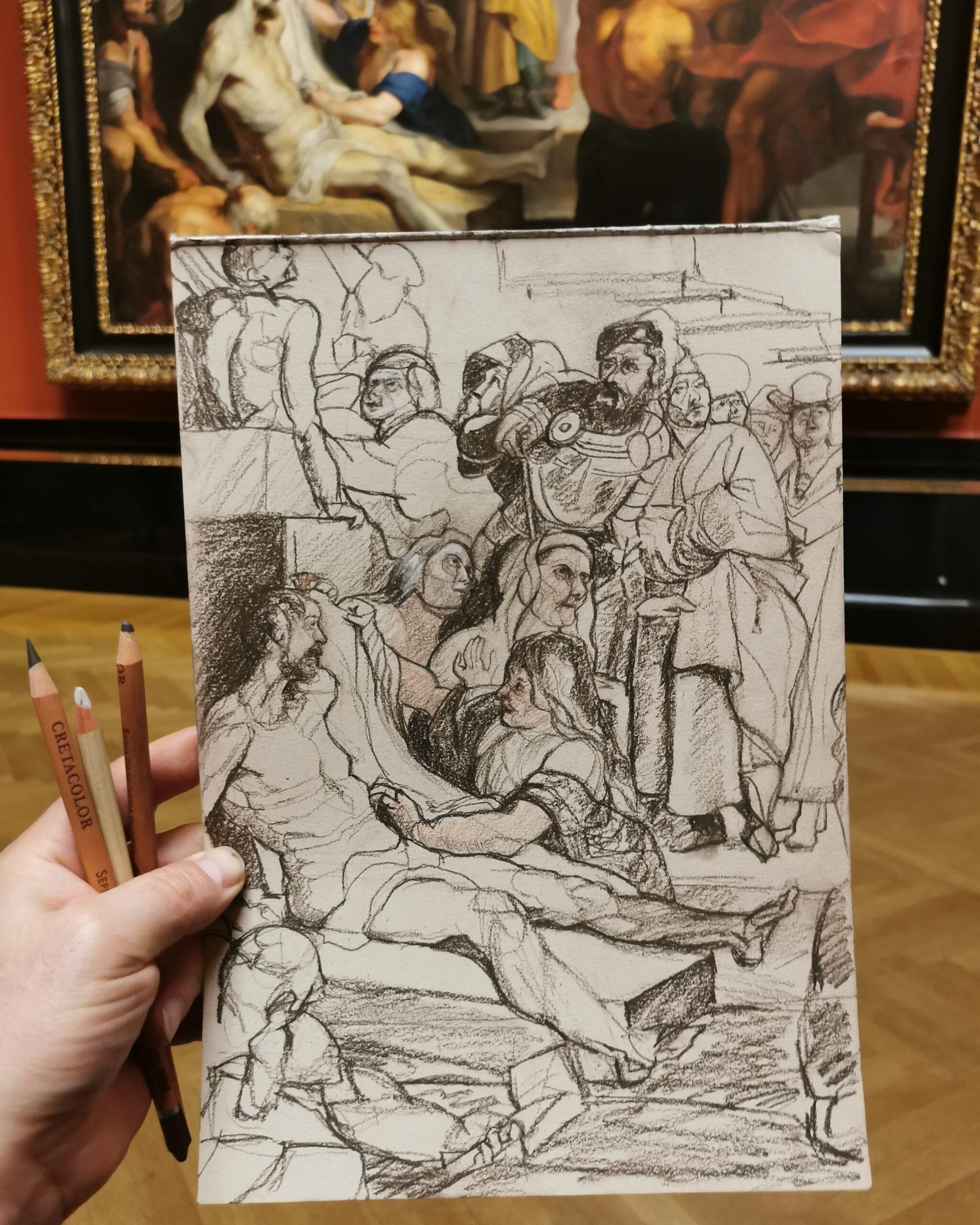 """Ausschnitt aus """"Wunder des hl. Franz Xaver"""" - Peter Paul Rubens"""